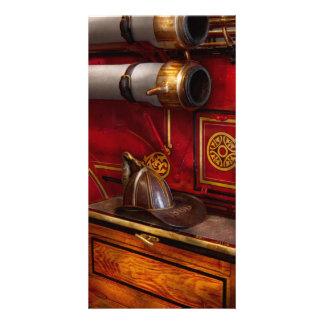 Bomberos - un trabajo elegante tarjeta fotografica