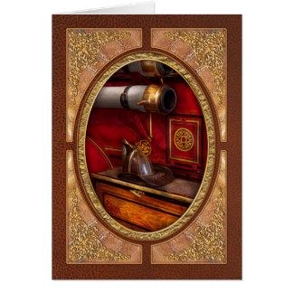 Bomberos - un trabajo elegante tarjeta de felicitación