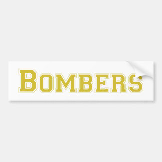 Bombers square logo in gold bumper stickers