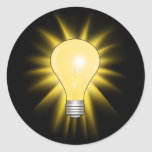 Bombilla - amortigüe las luces etiquetas redondas