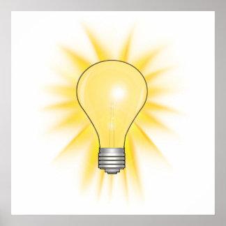 Bombilla - amortigüe las luces póster