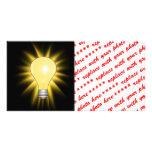 Bombilla - amortigüe las luces tarjeta personal con foto