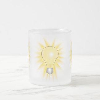 Bombilla - amortigüe las luces taza cristal mate