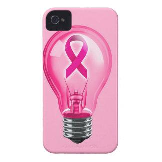 Bombilla del cáncer de pecho iPhone 4 Case-Mate cobertura