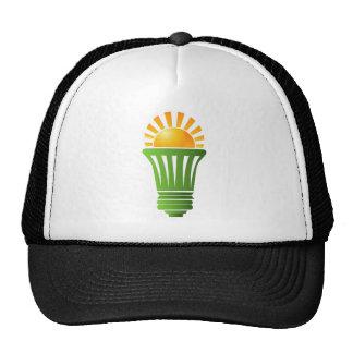 Bombilla eficiente de energía solar gorros