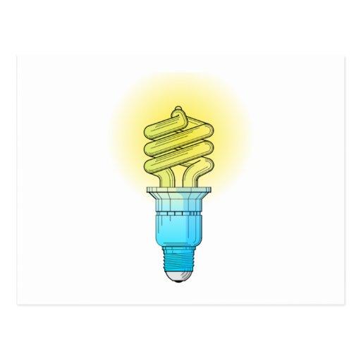 Bombilla fluorescente postal