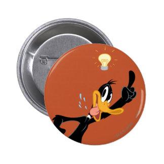 Bombilla sobre la cabeza del pato de Daffy Pins