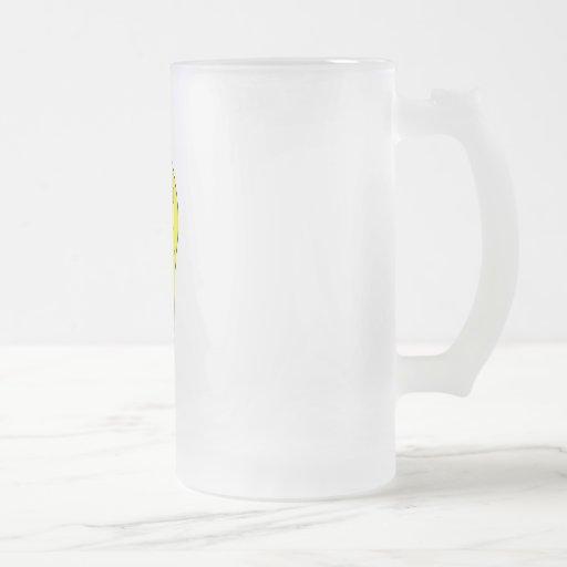 Bombilla sonriente jarra de cerveza esmerilada