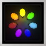 Bombillas coloridas - poster