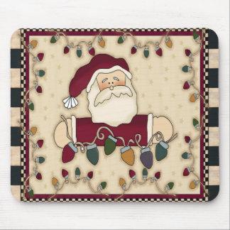Bombillas Mousepad de navidad de Santas Alfombrilla De Raton