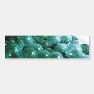 Bombillas polvorientas etiqueta de parachoque