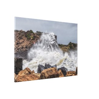 Bombo Big Swell Canvas Print