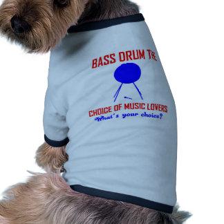 bombo la opción de amantes de la música camiseta con mangas para perro