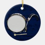 Bombo que marcha - escoja su color adorno navideño redondo de cerámica