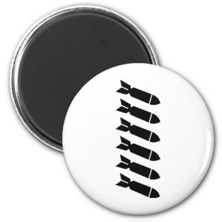 Bombs 2 Inch Round Magnet