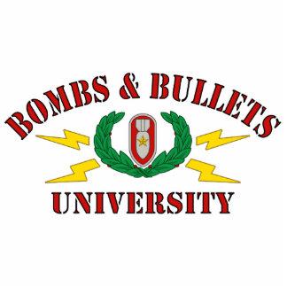Bombs & Bullets University Standing Photo Sculpture