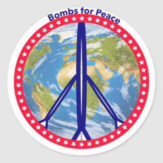 Bombs for Peace Stickers