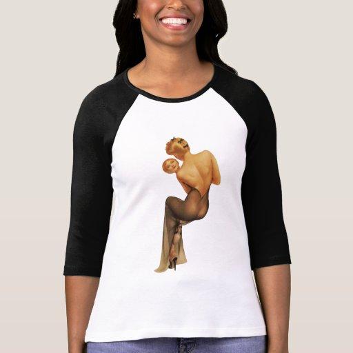 BOMBSHELL BAD GIRLS Retro Pin-Ups 3/4 T Shirt