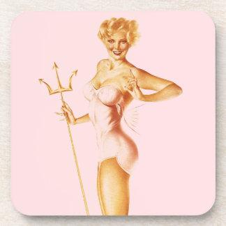 BOMBSHELL BAD GIRLS Retro Pin-Ups Beverage Coaster