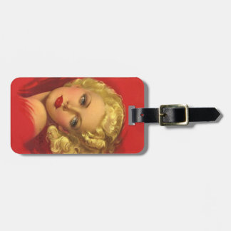 BOMBSHELL BAD GIRLS Retro Pin-Ups Luggage Tag
