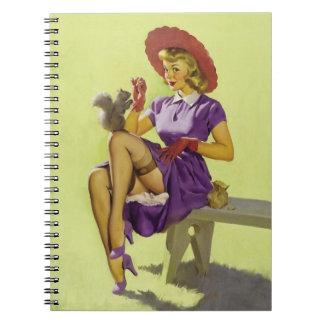 BOMBSHELL BAD GIRLS Retro Pin-Ups Notebook
