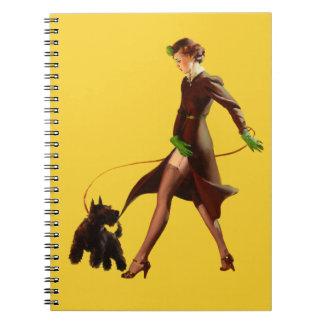 BOMBSHELL BAD GIRLS Retro Pin-Ups Spiral Notebook