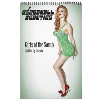 Bombshell Beauties Pin Up Calendar 2011