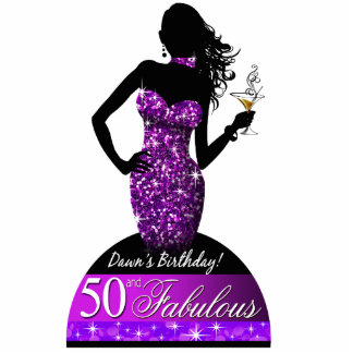 Bombshell Bling 50th Birthday Table Centerpiece Statuette