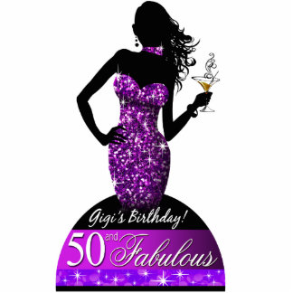 Bombshell Bling Sparkle Table Topper 8x10 | purple Statuette