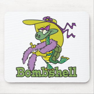 bombshell glam girly turtle tortoise cartoon mousepads