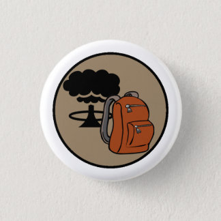 Bombshell Scouts Bugout Bag Merit Badge Pinback Button