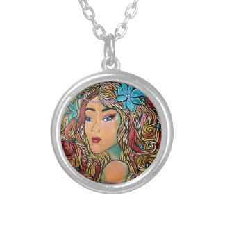 Bombshell Silver Plated Necklace