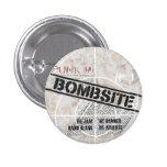 Bombsite Fanzine No, 1 cover Button