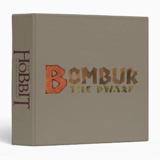 Bombur Name 3 Ring Binder