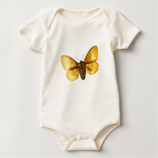 Bombyx quercus female baby bodysuit