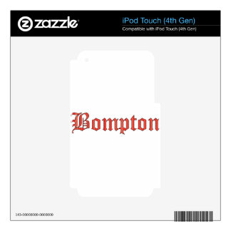 Bompton red decals for iPod touch 4G