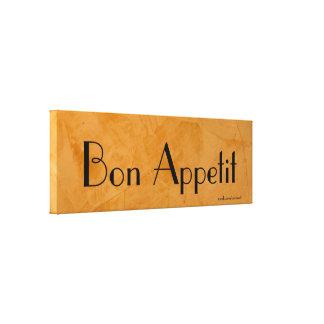 Bon Appetit 2.0 Tuscan Orange Painting Canvas Print