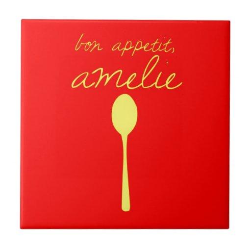 Bon appetit, Amelie Ceramic Tile