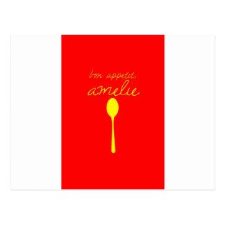 Bon appetit, Amelie Postcard