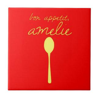 Bon appetit, Amelie Small Square Tile
