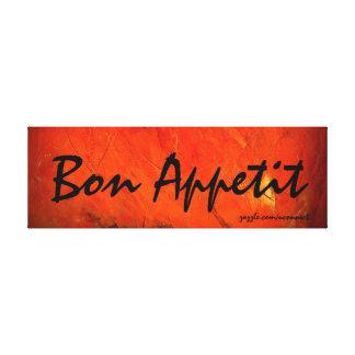 Bon Appetit Art Painting Stretched Canvas Print