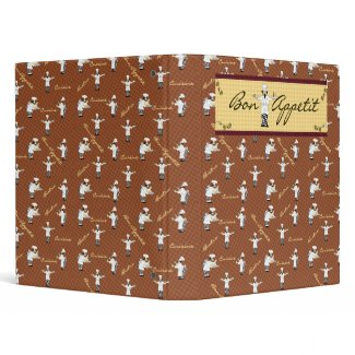 Bon Appetit Avery Binder (Brown) binder