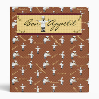 Bon Appetit Avery Binder (Brown)