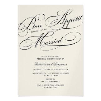 Bon Appetit Before Married Rehearsal Dinner Invite