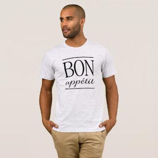 BON APPETIT  Black Typography Quote Text Print T-Shirt