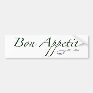 Bon Appetit Car Bumper Sticker