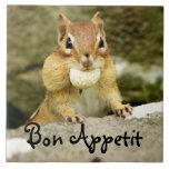 Bon Appetit Chipmunk Trivet Tile
