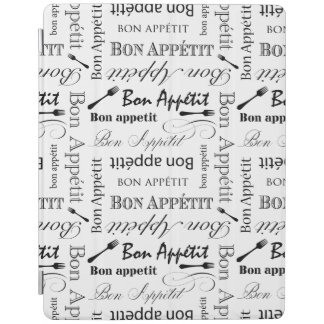 Bon Appetit Classic Black and White Pattern iPad Smart Cover