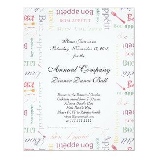 Bon Appetit Classic Pattern Card