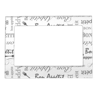 Bon Appetit Classic Vintage French Black and White Magnetic Photo Frame